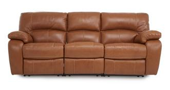 Reward Leather and Leather Look 3 Seater Electric Triple Recliner