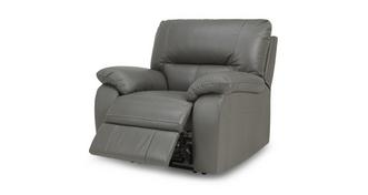 Rhythm Leather and Leather Look Electric Recliner Chair