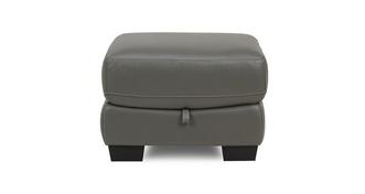 Rhythm Leather and Leather Look Storage Footstool