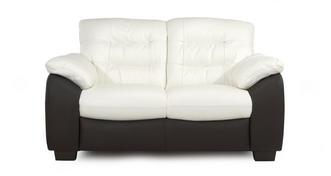 Ripple Leather and Leather Look 2 Seater Sofa