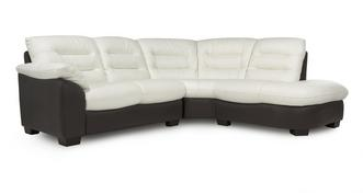 Ripple Leather Left Arm Facing 2 Piece Corner Sofa