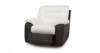 Ripple Leather Manual Recliner Chair