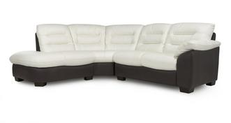 Ripple Leather Right Arm Facing 2 Piece Corner Sofa