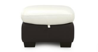 Ripple Leather Storage Footstool
