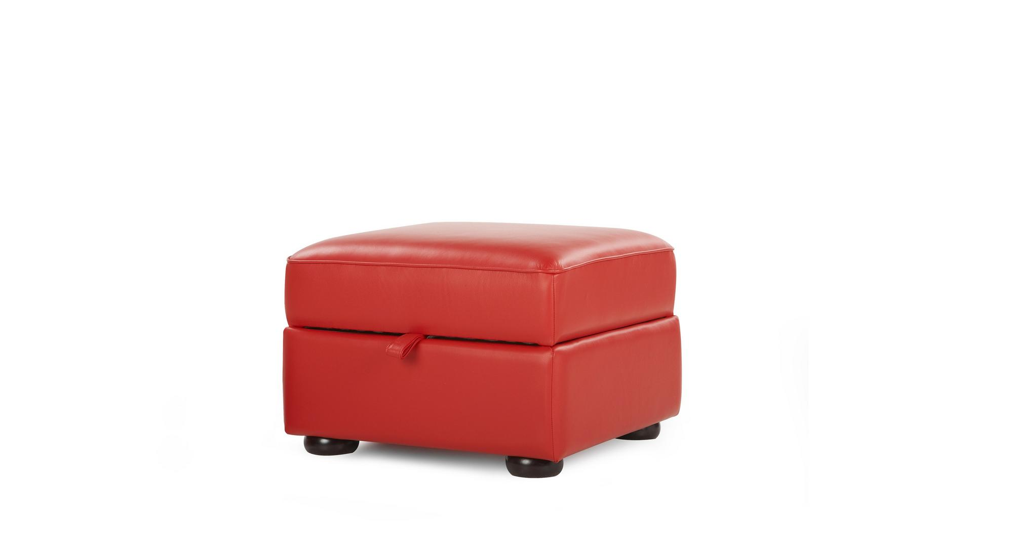 DFS Ritz Red Leather 2 Seater Sofabed Chair And Storage