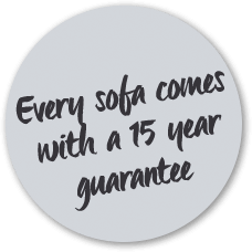 Every sofa comes with a 15 year guarantee