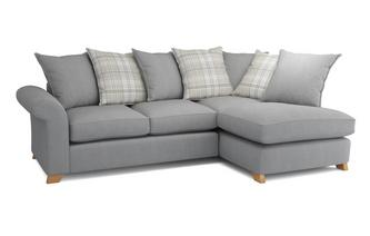 Left Arm Facing Pillow Back Corner Sofa