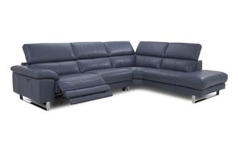 Option C Left Arm Facing Single Electric Recliner Corner Sofa New Club