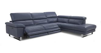 Salone Option E Left Arm Facing Twin Electric Recliner Corner Sofa