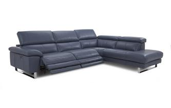 Option E Left Arm Facing Twin Electric Recliner Corner Sofa New Club