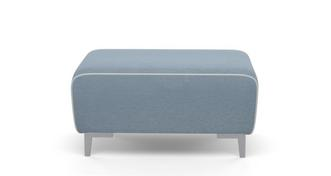 Sanzio Rectangular Footstool with White Piping