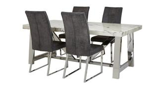 Satellite Rectangular Table & Set of 4 Chairs