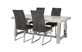 Rectangular Table & Set of 4 Chairs Satellite