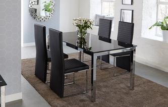 Savvy Fixed Top Table & Set of 4 Chairs Savvy