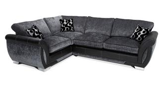 Shannon Right Hand Facing 3 Seater Formal Back Deluxe Corner Sofa Bed