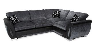 Shannon Left Hand Facing 3 Seater Formal Back Corner Deluxe Sofa Bed