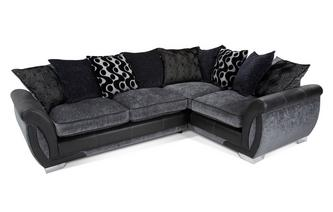 Left Hand Facing 3 Seater Pillow Back  Corner Sofa Bed Talia