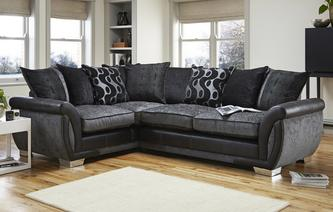 Shannon Right Hand Facing 3 Seater Pillow Back Corner Sofa Bed Talia