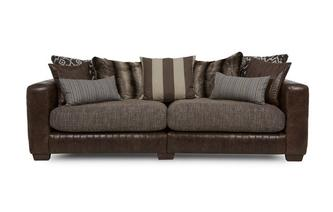 4 Seater Split Pillow Back Sofa