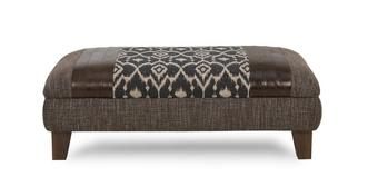 Shelburne Pattern Top Banquette Footstool