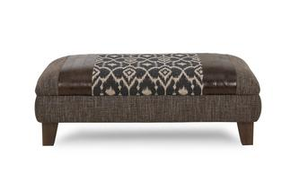 Pattern Top Banquette Footstool Shelburne