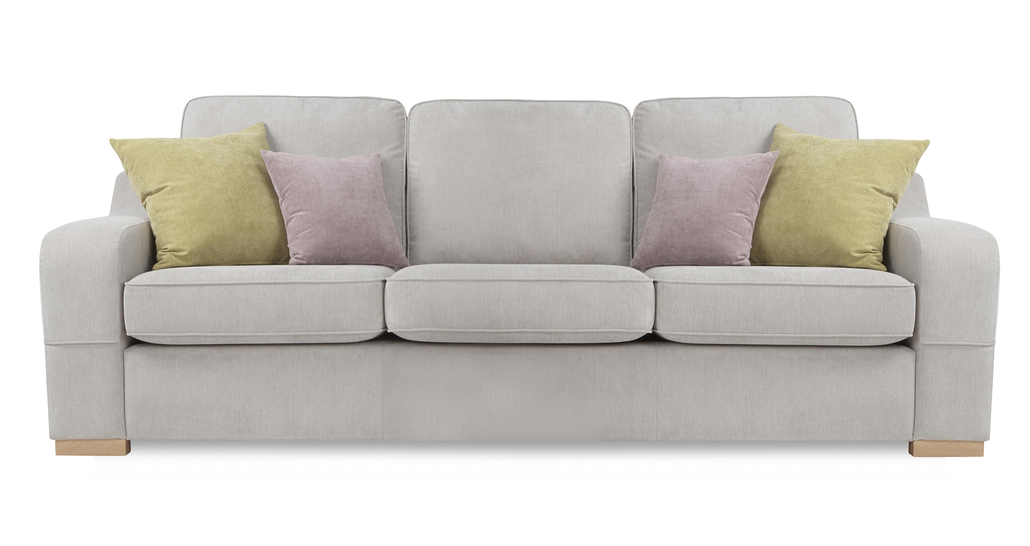DFS Sherbet 4 Seater Fabric Silver Sofa EBay
