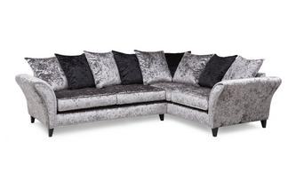 Left Hand Facing 2 Seater Pillow Back Corner Sofa