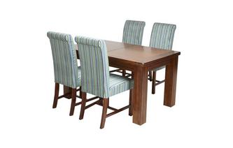 Large Extending Dining Table & Set of 4 Shiraz Upholstered Chairs