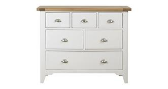 Shore Bedroom 6 Drawer Wide Chest