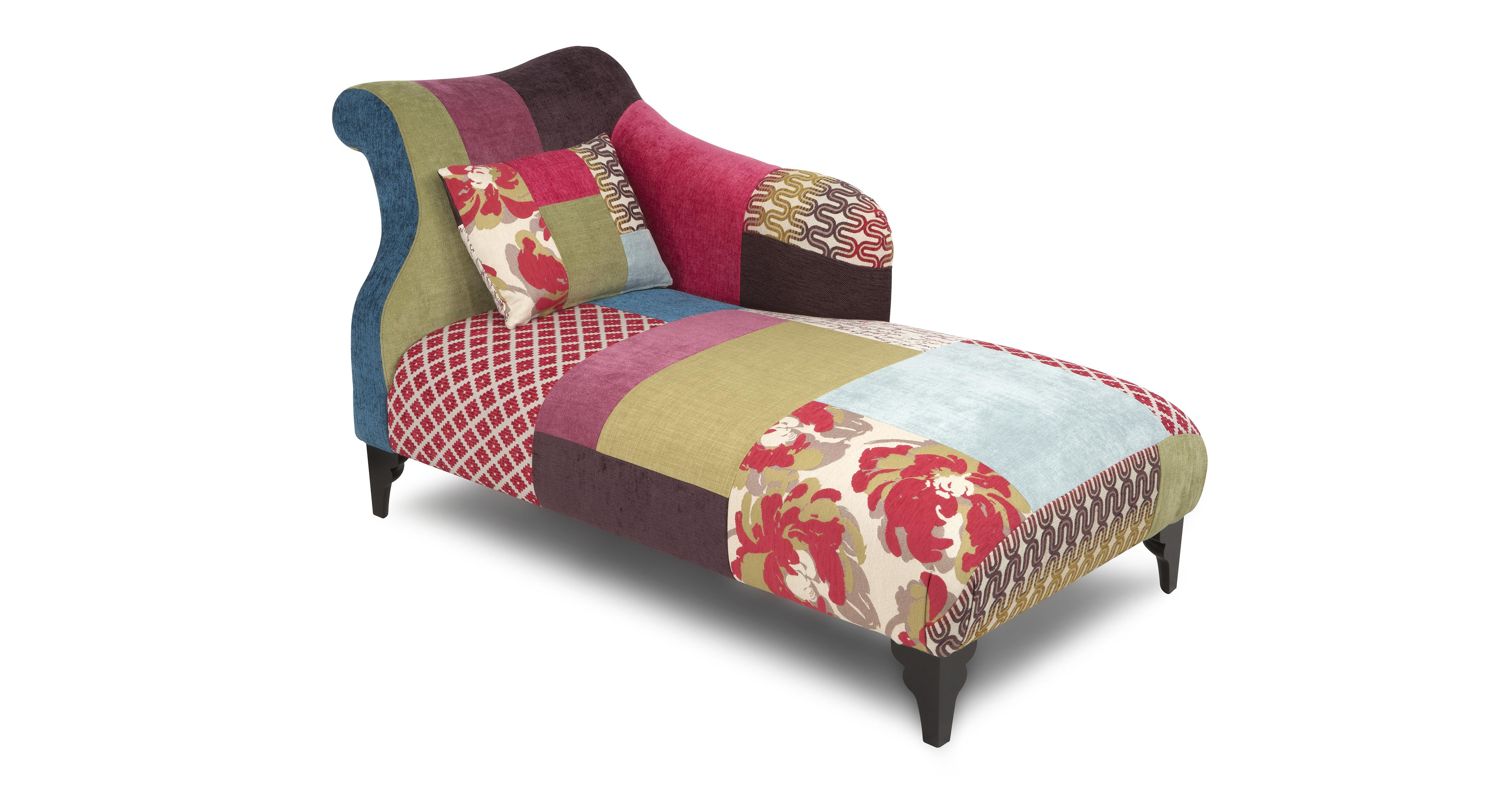 Shout Right Hand Facing Chaise Longue Shout Patchwork DFS