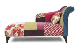 Left Hand Facing Chaise Longue Shout Patchwork