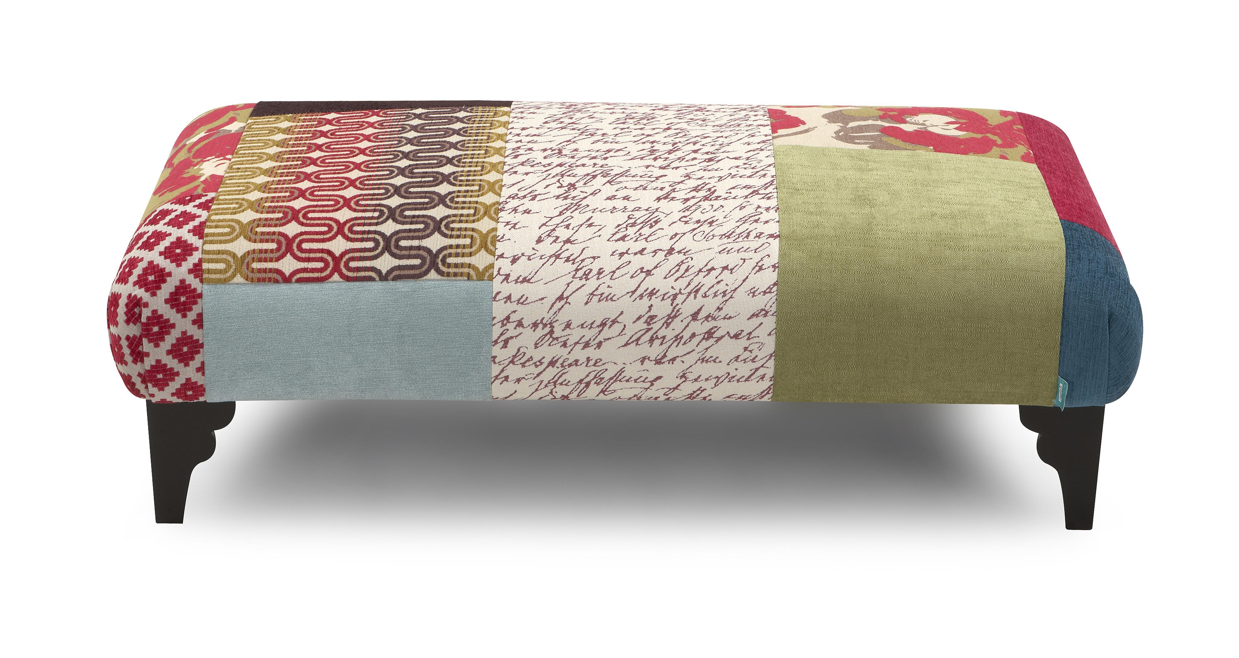 Shout footstool shout patchwork dfs for Chaise longue ireland