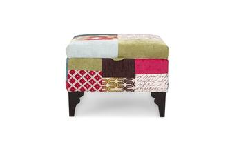 Storage Footstool Shout Patchwork
