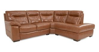 Siesta Leather and Leather Look Left Hand Facing Arm 2 Piece Corner Sofa