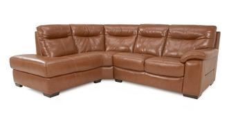 Siesta Leather and Leather Look Right Hand Facing Arm 2 Piece Corner Sofa