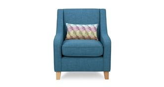 Skye Accent Chair with 1 Pattern Bolster