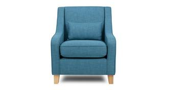 Skye Accent Chair with 1 Plain Bolster