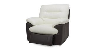Skyline Leather and Leather Look Manual Recliner Chair