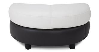 Skyline Leather and Leather Look Half Moon Footstool