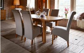 Somerset Extending Dining Table & Set of 4 Herringbone Chairs Somerset Oak