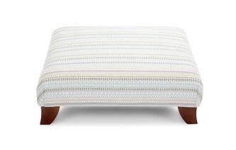 Striped Footstool Sophia
