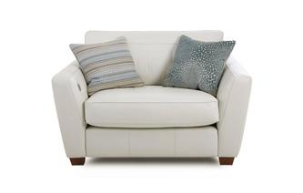 Cuddler Sofa with Heated Seat Sophia Leather
