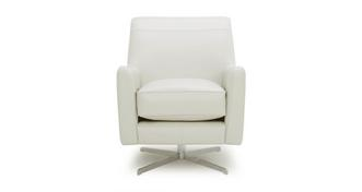 Sophia Leather Plain Accent Swivel Chair