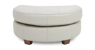 Sophia Leather Half Moon Footstool