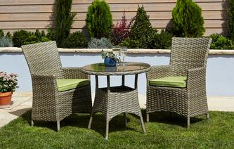 Souri Bistro Set PU Rattan