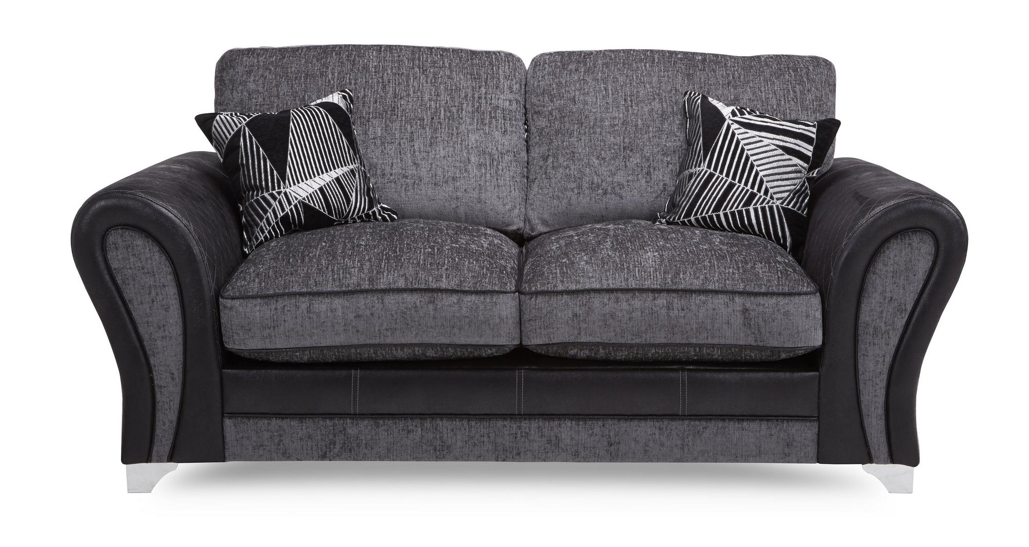 Dfs Starlet Charcoal Grey Fabric Large 2 Seater Formal