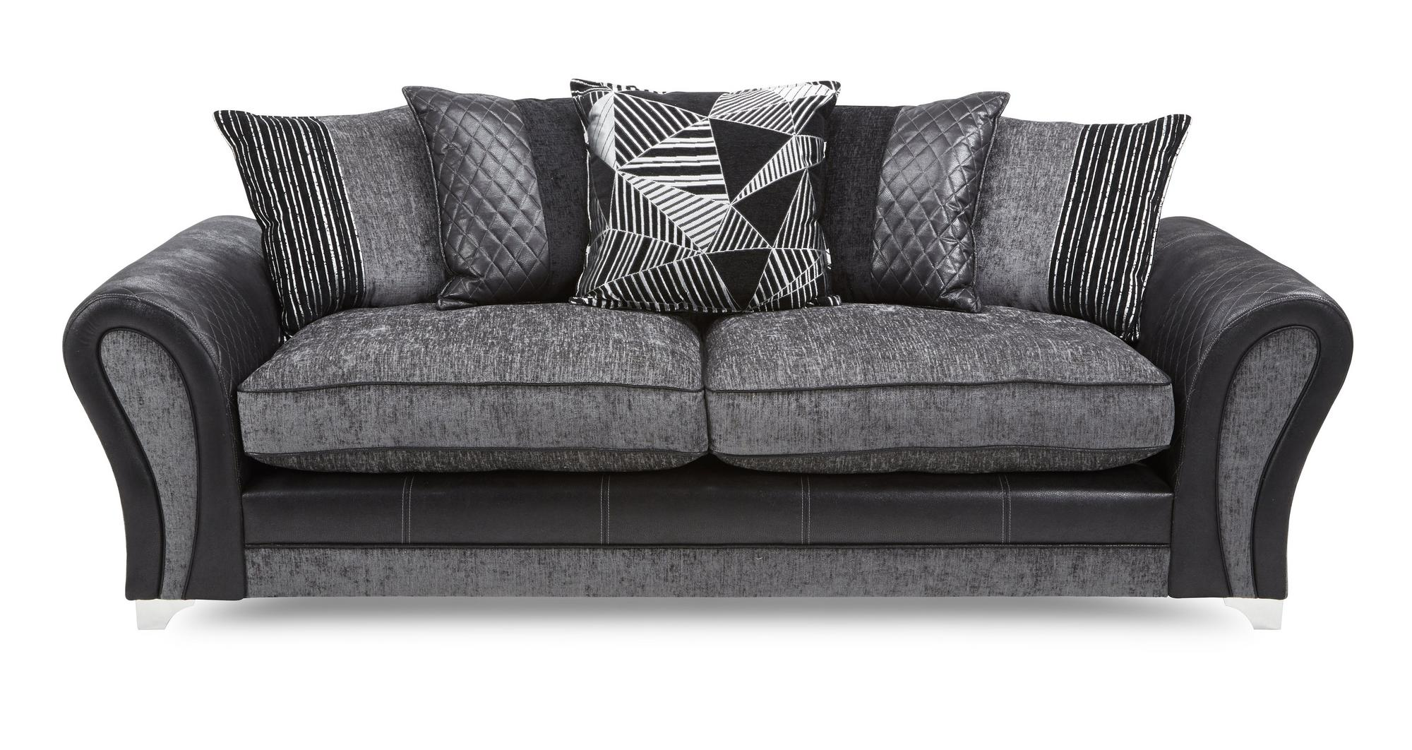 Dfs Starlet Fabric 4 Seater Pillow Back Sofa Formal 2