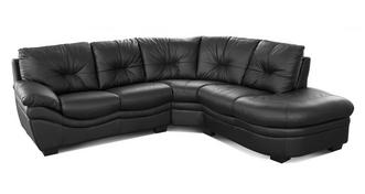 Status Leather and Leather Look Left Arm Facing Corner Sofa