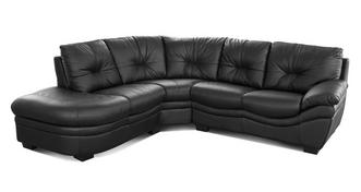 Status Leather and Leather Look Right Arm Facing Corner Sofa