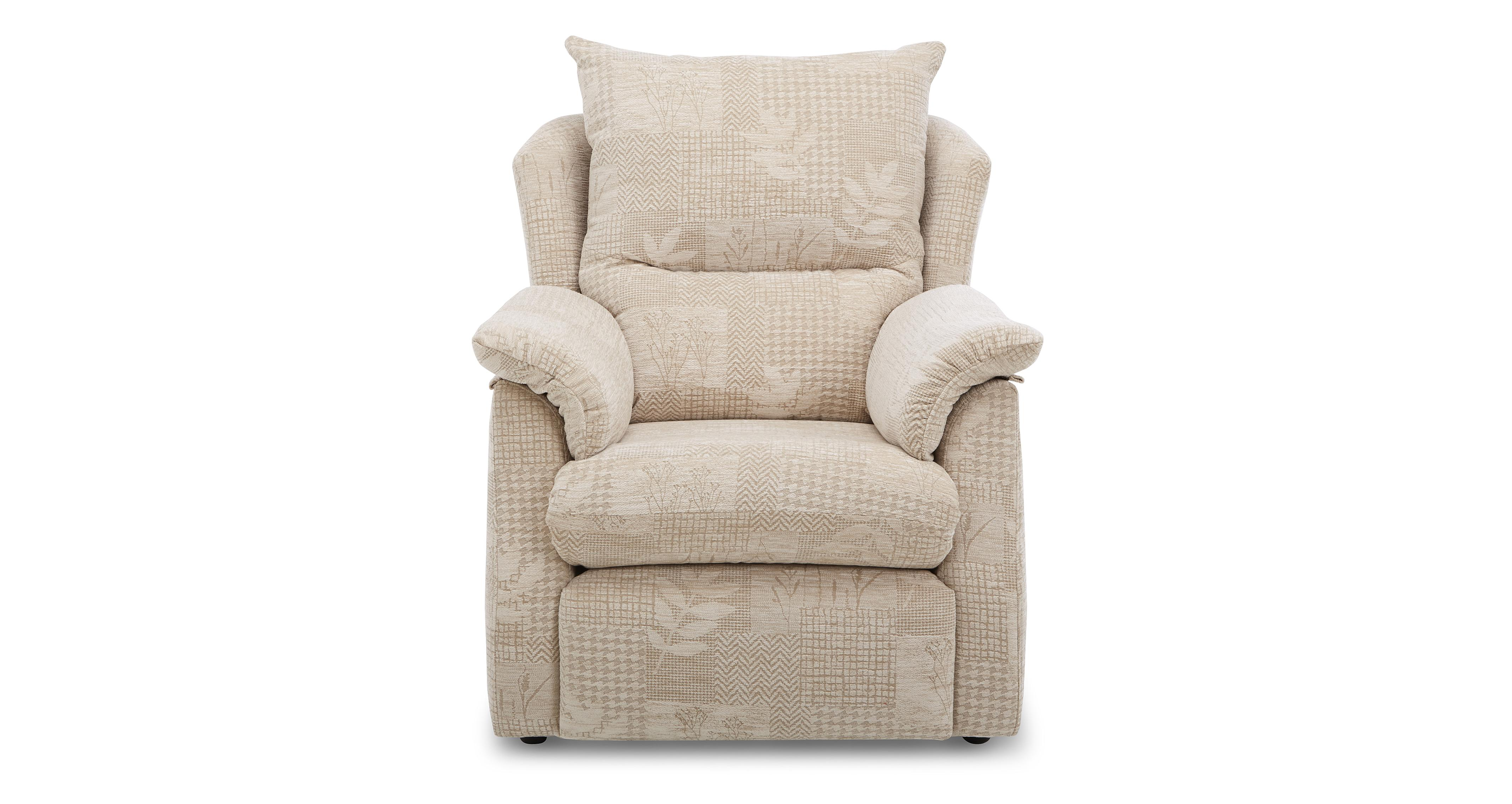 Stow fabric c small electric recliner chair g plan fabric for Small fabric chair